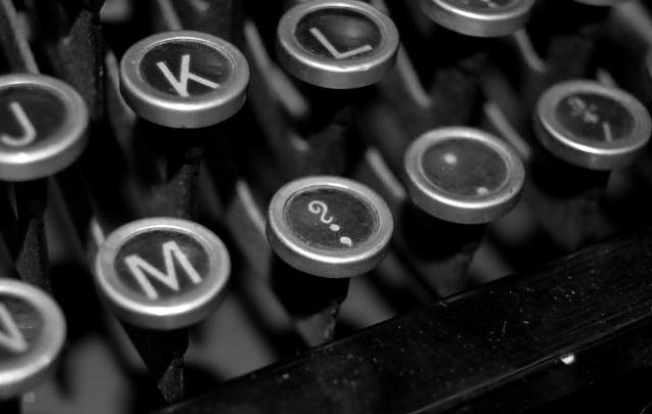Typewriter keys, with the focus on the question mark